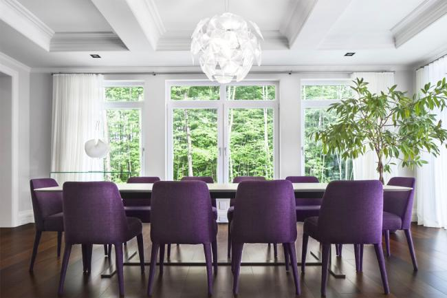 Chic dining room chairs